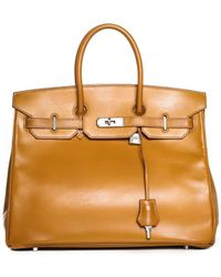 Hermès - Gold Box Calf Leather Birkin 35cm Phw - Lyst