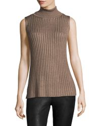 525 America - Sleeveless Cut Away Back Turtleneck - Lyst