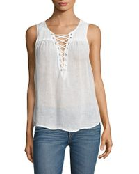 Mcguire - Kaia Lace-up Sleeveless Top - Lyst