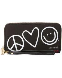 Peace Love World - Patches Zip Around Wristlet Wallet - Lyst