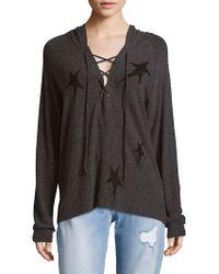 Lauren Moshi - Star Raglan Sleeve Hooded Pullover - Lyst