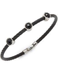 Alor - Stainless Steel Triple Onyx Bracelet - Lyst