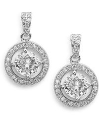 Saks Fifth Avenue - Halo Drop Earrings - Lyst