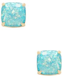 Kate Spade - Glitter Square Stud Earrings - Lyst