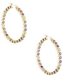 Gabi Rielle - 22k Gold Vermeil Hoop Earrings - Lyst