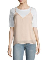 Lucca Couture - Washed Satin Camisole - Lyst