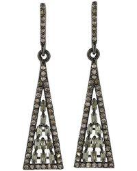 Adornia - Fine Jewellery Silver Drop Earrings - Lyst