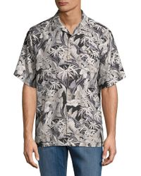 Tommy Bahama - Leaves-print Button-down Shirt - Lyst
