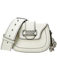 Dior - D Fence Mini Leather Saddle Bag - Lyst