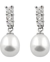 Splendid Silver 7-8mm Freshwater Pearl Earrings