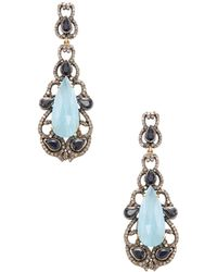 Karma Jewels - Silver, Aquamarine, Sapphire & 2.48 Total Ct. Diamond Drop Earrings - Lyst