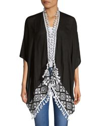 Vince Camuto - Embroidered Tassel Cardigan - Lyst