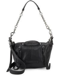McQ - Textured Leather Shoulder Bag - Lyst