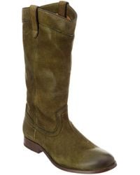 Frye - Melissa Pull On Tall Suede Boot - Lyst