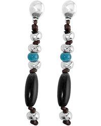 Uno De 50 - Unode50 Beattlebove Silver Plated Drop Earrings - Lyst