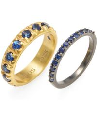 Suneera - Suite 005 Plated Rings (set Of 2) - Lyst