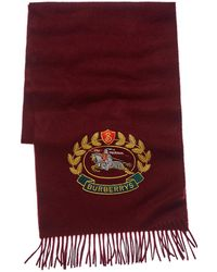 Burberry - Embroidered Crest Scarf - Lyst