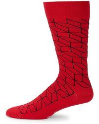 Happy Socks - Optic Mid-calf Socks - Lyst