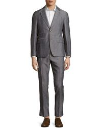 Façonnable - Woven Striped Suit - Lyst