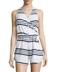 Faithfull The Brand - Halterneck Wrap Romper - Lyst