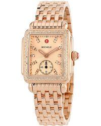 Michele - Deco 16 Diamond Watch - Lyst