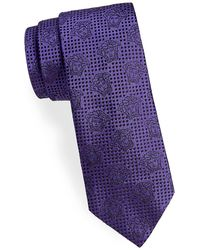 Versace | Floating Medusa Heads Silk Narrow Tie | Lyst