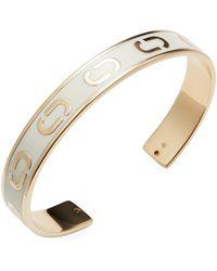Marc Jacobs - Double J Enamel Cuff Bracelet - Lyst