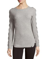 Andrew Marc - Curved Hem Knitted Top - Lyst