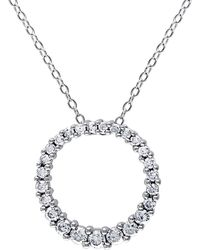 Rina Limor - Silver & 0.50 Total Ct. Diamond Open Circle Pendant Necklace - Lyst