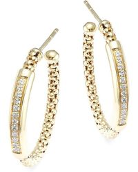 Chimento - Stretch Diamonds Diamond & 18k Yellow Gold Hoop Earrings - Lyst