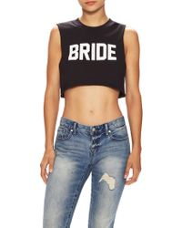 Private Party - Bride Sleeveless Crop Top - Lyst