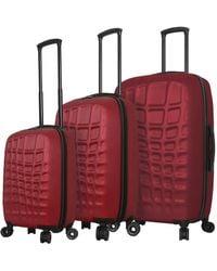 Mia Toro - Abstract Croco Hardside 3pc Luggage Set - Lyst