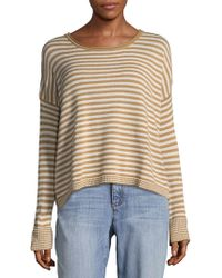 Splendid - Stripe Long Sleeve Sweatshirt - Lyst