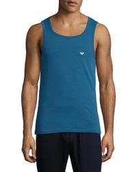 Emporio Armani - Iconic Logoband Tank Top - Lyst
