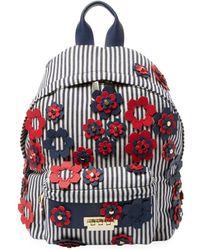 Zac Posen - Floral Applique Stripe Backpack - Lyst