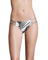 Mikoh Swimwear - Kapalua Multi String Back Bandeau Bikini Bottom - Lyst