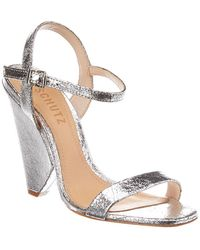 c8f47c5c5a Schutz Liliane Metallic Sandals in Metallic - Lyst