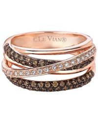 Le Vian - Chocolatier® 14k Rose Gold & Diamond Gladiator Weavetm Ring - Lyst