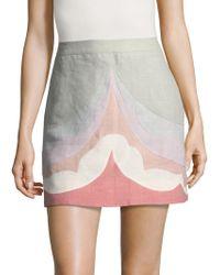 Valentino - Patterned Skirt - Lyst