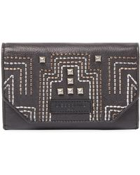 Liebeskind - Embroidered French Wallet W/pyramid Studs - Lyst