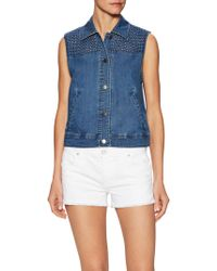 Plenty by Tracy Reese - Denim Eyelet Vest - Lyst
