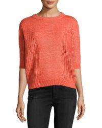 Manoush - Cotton Pointelle Sweater - Lyst