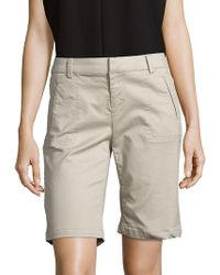 Saks Fifth Avenue - Solid Cotton-blend Shorts - Lyst