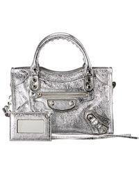 ca8896b996 Balenciaga Classic Metallic City Small Leather Shoulder Bag in Green ...