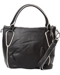 Liebeskind - Black/white Piping Shoulder Bag - Lyst