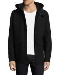Cole Haan - Waterproof Solid Hooded Jacket - Lyst