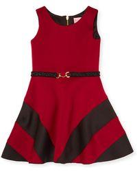Zoe - Paneled Crewneck Dress - Lyst