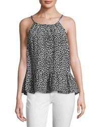 Tracy Reese - Easy Silk Printed Flounce Top - Lyst