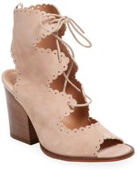 Elorie - Buson Scalloped Suede Bootie - Lyst