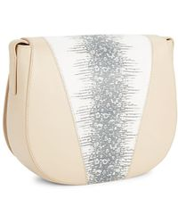 Vince | Mod V Python-embossed Leather Crossbody Bag | Lyst